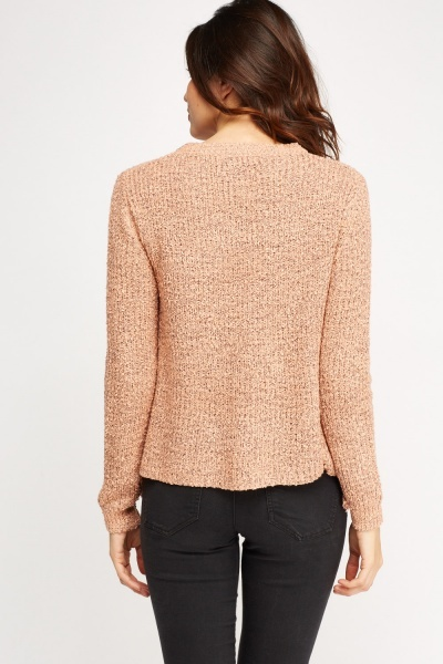 Lace Up Sides Knitted Jumper