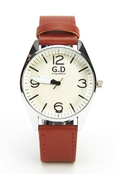 Classic Faux Leather Strap Watch