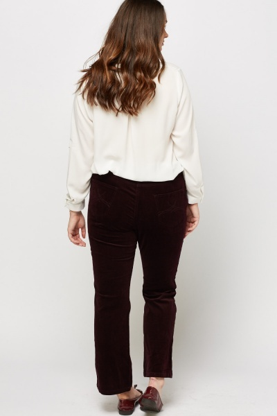 Cord Straight Leg Trousers