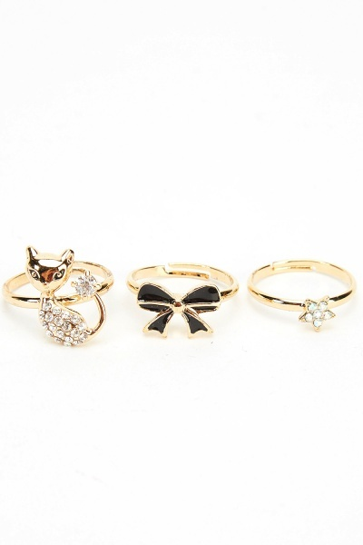 Set Of 3 Mixed Rings