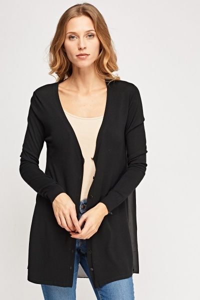 Detailed Back Thin Cardigan