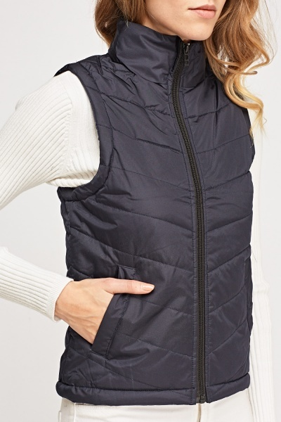 Navy Quilted Bodywarmer