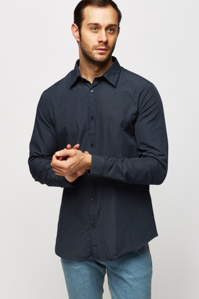 Polka Dot Navy Shirt
