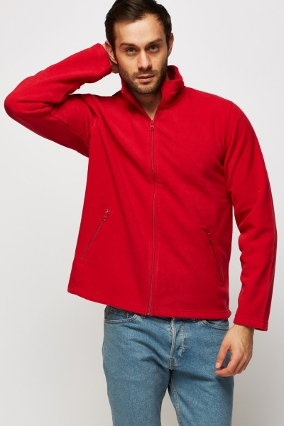 Zip Up Fleece Basic Jumper