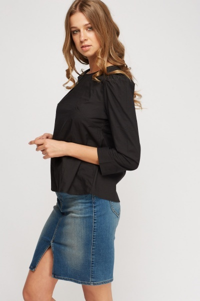Button Back Casual Top