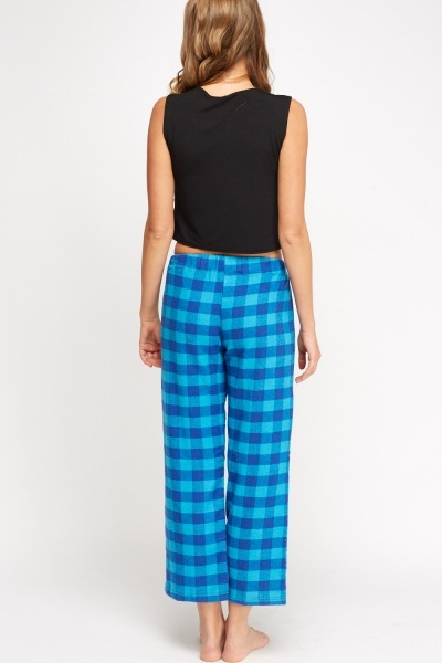 Checked Grid Pyjama Trousers