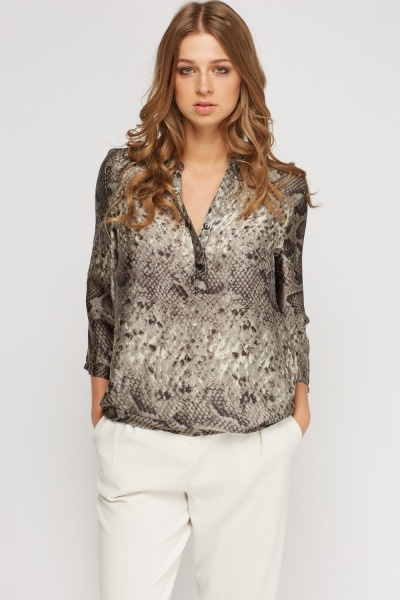 Mock Croc Silky Top
