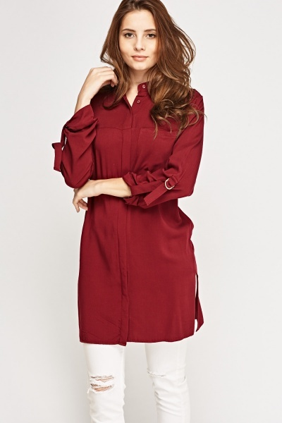 Burgundy Long Shirt