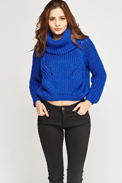 Cropped Chunky Knit Jumper