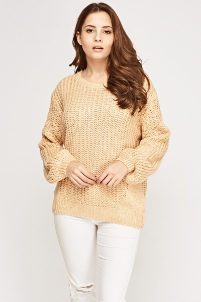 Loose Knit Thick Jumper