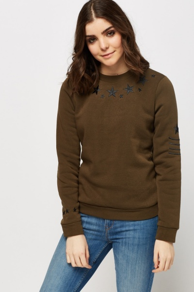 Star Embroidered Jumper