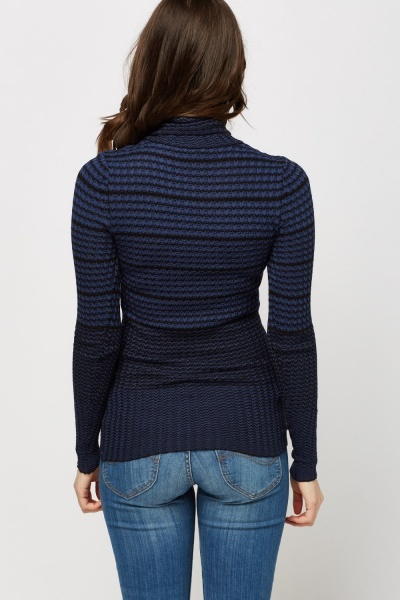 Textured Roll Neck Top