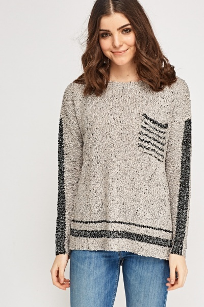 Bobble Knit Pullover