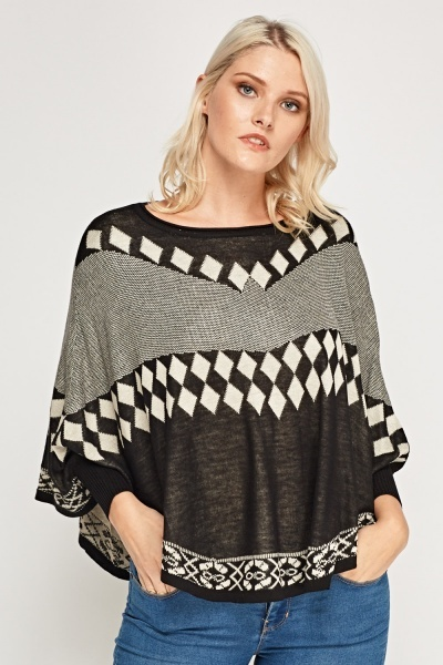 Batwing Sleeve Knitted Top