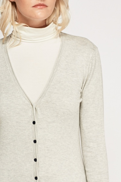 Button Up Speckled Cardigan