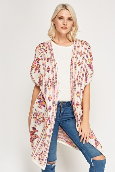 Multi Colour Knitted Cardigan