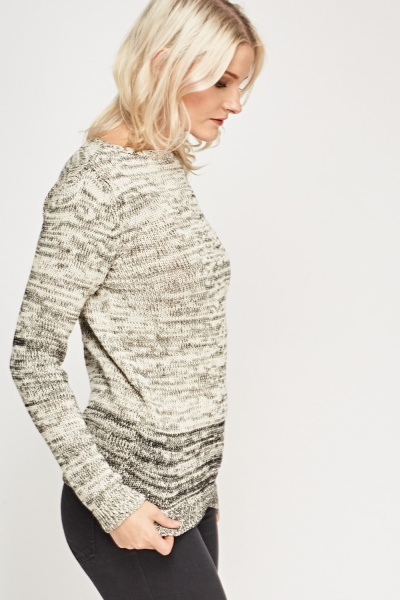 Speckled Ombre Knitted Jumper