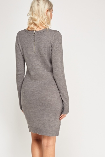 Thin Knit Midi Dress