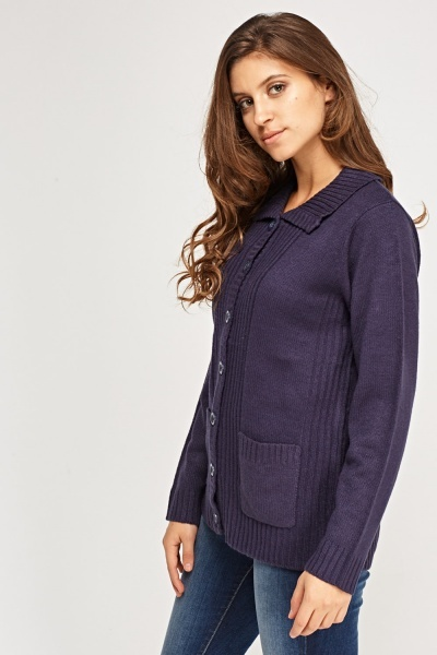 Button Up Knitted Casual Cardigan