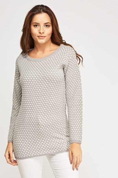 Polka Dot Knitted Jumper