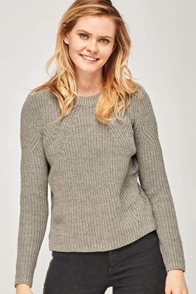 Loose Knit Ribbed Jumper