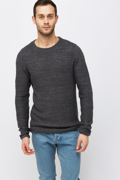 Round Neck Casual Jumper
