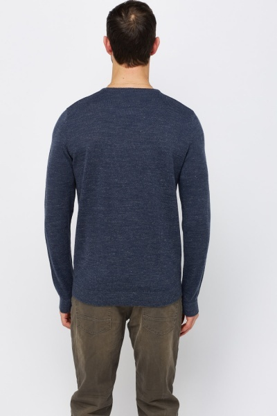 Round Neck Thin Knitted Jumper