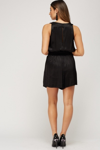Detailed Waist Wrapped Playsuit