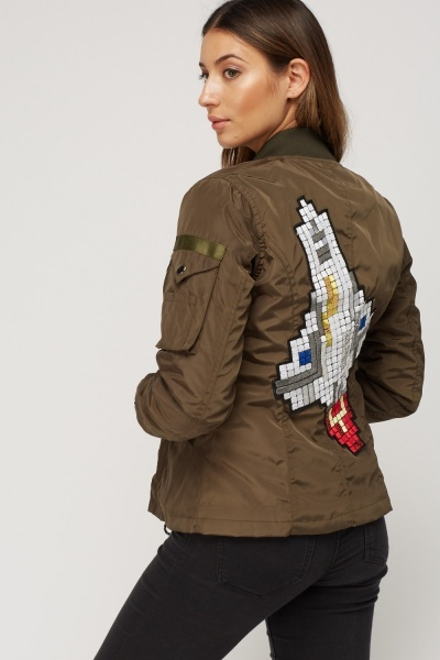 Applique Space Bomber Jacket