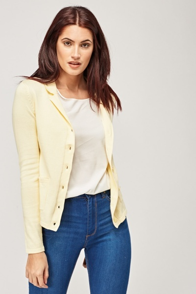Lapel Button Up Cardigan