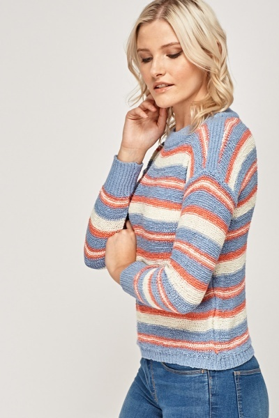 Multi Striped Knitted Jumper