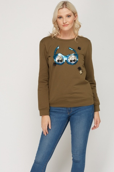 Applique 3D Sweater
