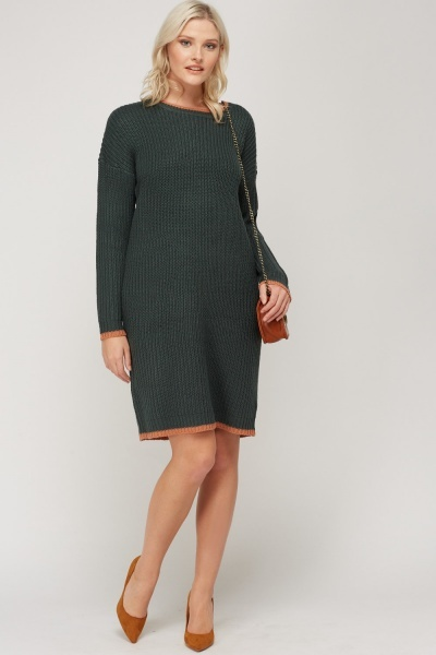 Knitted Basic Jumper Dress