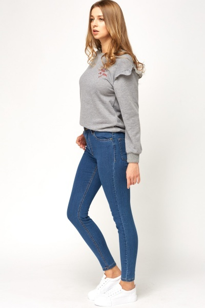 Skinny Fit Blue Jeans