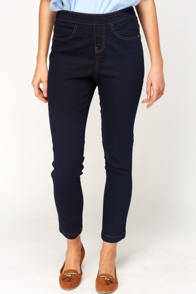 Slim Fit Navy Jeggings