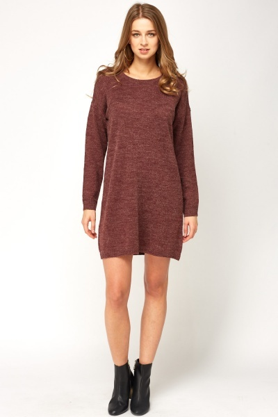 Speckled Knitted Dress