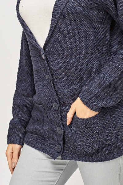 Middle Blue Speckled Cardigan