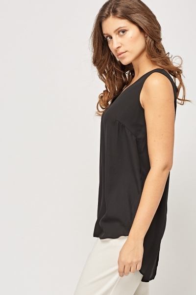 Detailed Back Sheer Top