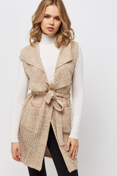 Lapel Loose Knit Cardigan