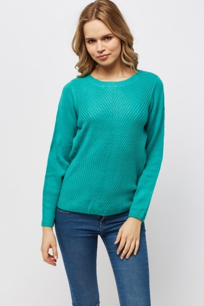 Ribbed Knitted Jumper