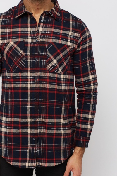 Checked Cotton Casual Shirt
