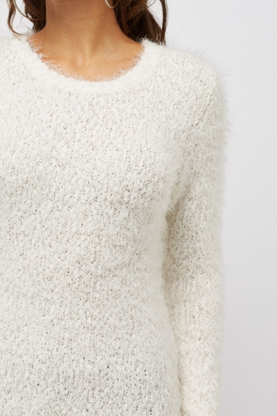 Eyelash Off White Jumper