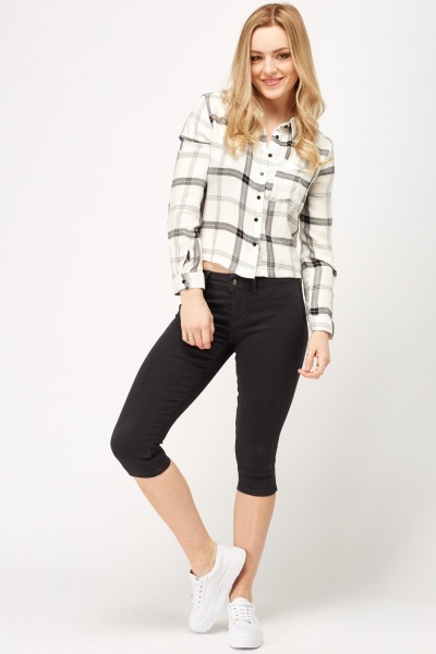 3/4 Medium Grey Jeans