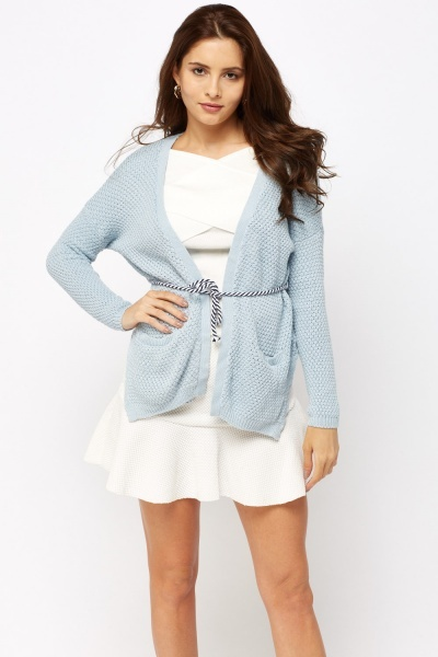 Textured Knitted Cardigan