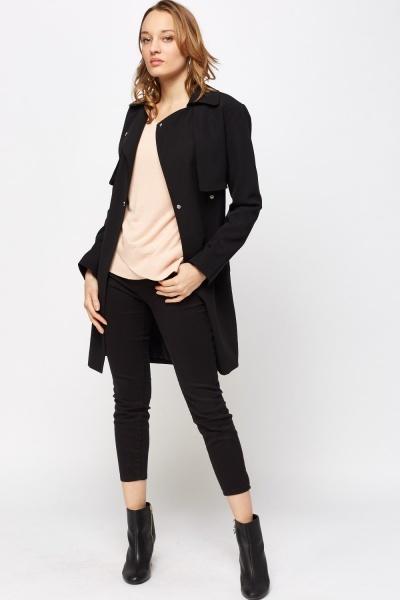 Asymmetric Overlay Pullover