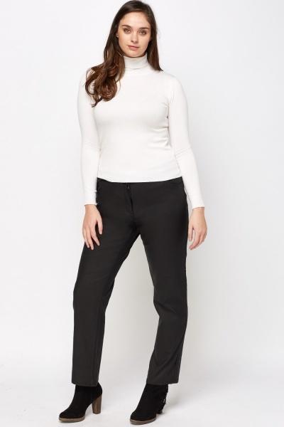 Black Waxed Trousers