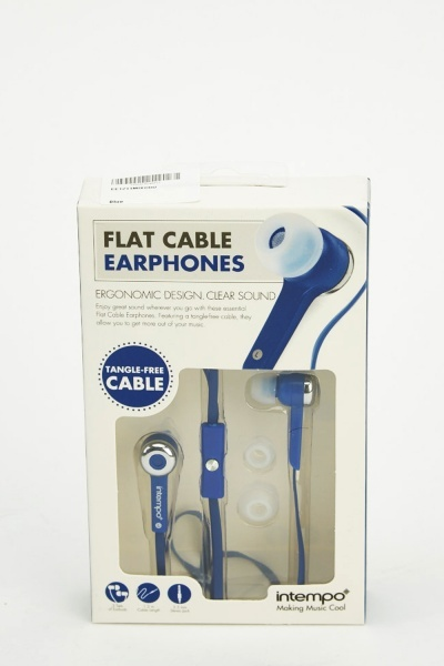 Flat Cable Earphones