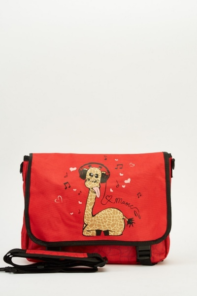 Giraffe Print Shoulder Bag