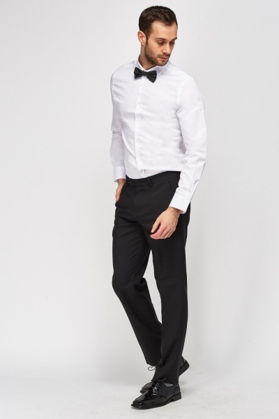Bow Tie Neck Formal Shirt