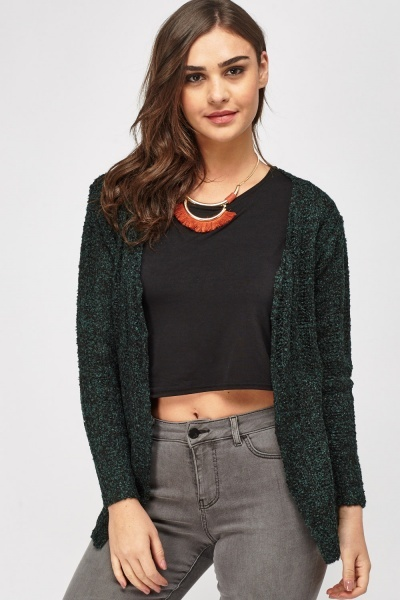 Bobble Knit Casual Cardigan